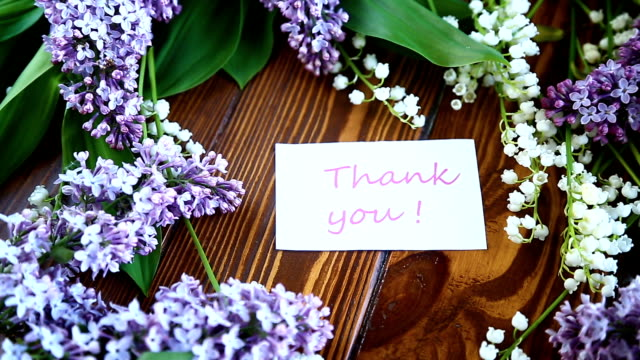 Beautiful spring flowers lily of the valley and lilac flowers video