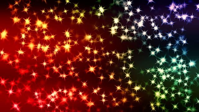 Beautiful stars background loop video