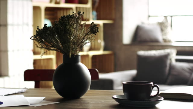 Beautiful still life in a stylish, expensive interior video