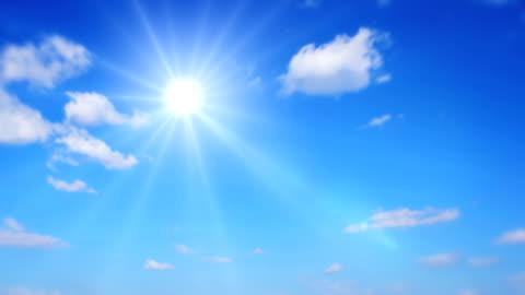 vídeos y material grabado en eventos de stock de sol de verano hermoso. lapso de tiempo - luz brillante