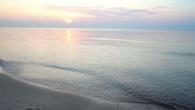 Beautiful summer sunset over Baltic sea. video