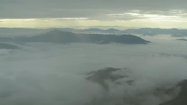 Beautiful sunrise over mist video