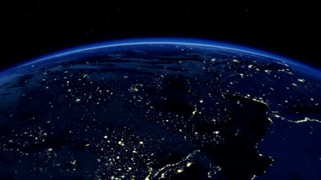 美しい日の出は地球上にあります。 - 地球のビデオ点の映像素材/bロール