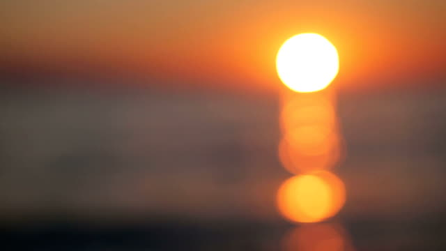 Beautiful sunrise over the sea Beautiful sunrise over the sea dawn stock videos & royalty-free footage
