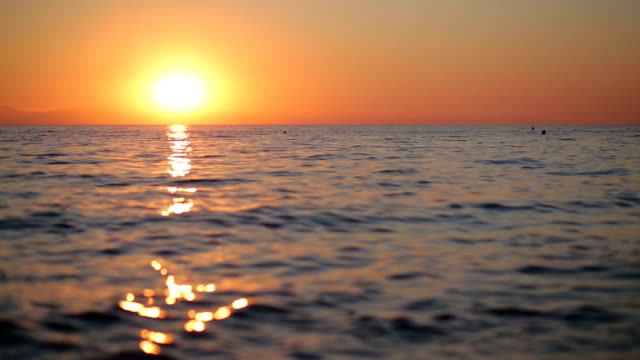 Beautiful sunrise over the sea video