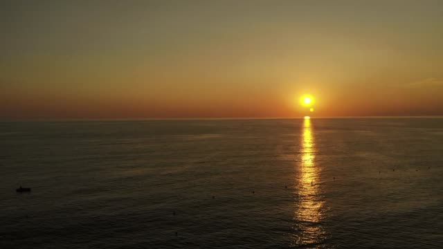 beautiful sunset in europe - video di tropea video stock e b–roll