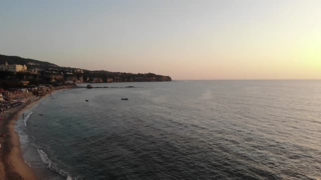 beautiful sunset in europe - tropea video stock e b–roll