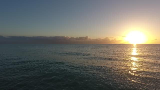 vídeos de stock e filmes b-roll de beautiful sunset in miami,florida - linha do horizonte sobre terra