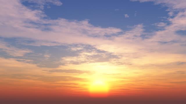 Belo pôr do sol, laço 013 - vídeo