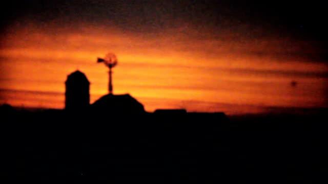 Beautiful Sunset On The Family Farm-1940 Vintage 8mm film