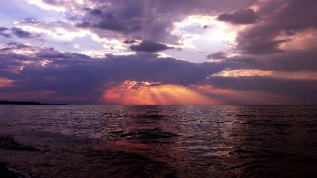 Beautiful sunset over sea, Greece