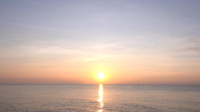 Beautiful sunset over the sea