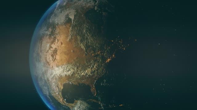 abd ve kanada üzerinde güzel gün batımı - kuzey amerika stok videoları ve detay görüntü çekimi