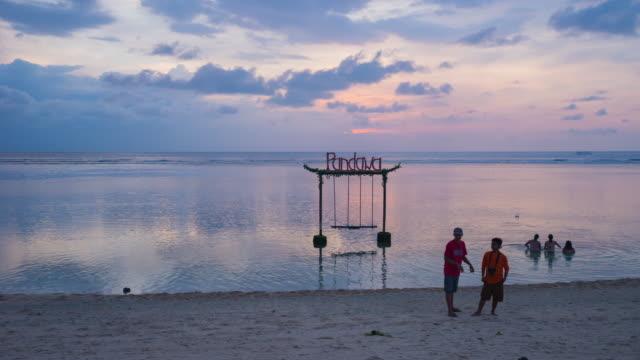 Beautiful sunset Pandawa beach on the island of Bali in Indonesia – Video