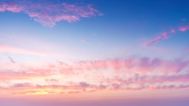 beautiful sunset, time-lapse video