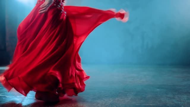 beautiful swing skirts in dance, oriental style. belly dance, movement of the hips. bottom view. - belly dancing stock videos and b-roll footage