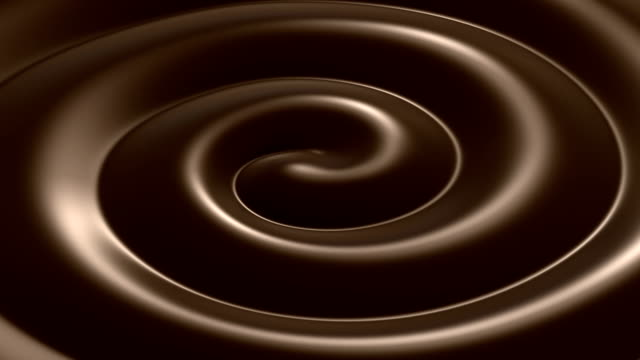 Beautiful Swirl Chocolate Close-up Looped Animation. HD. video
