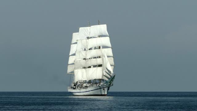 beautiful tall ship on all sails