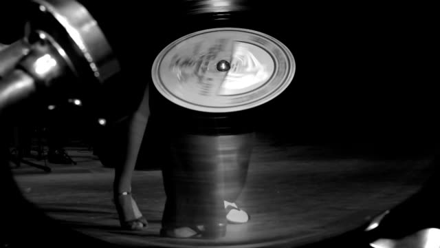 beautiful tango on a gramophone record video