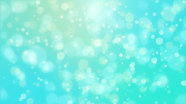 Beautiful teal blue glowing bokeh background - Vidéo