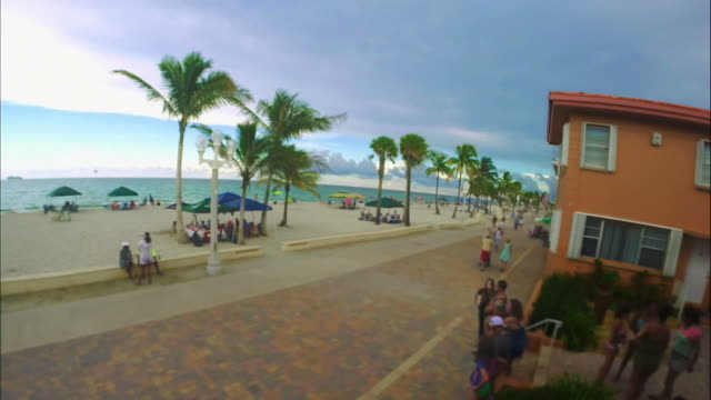 Beautiful Time Lapse of Hollywood Beach, Florida video