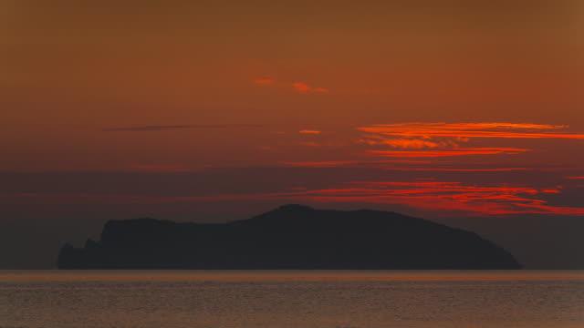 Beautiful Time lapse Sunrise over the island. video