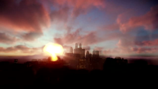 Beautiful timelapse sunrise over city video