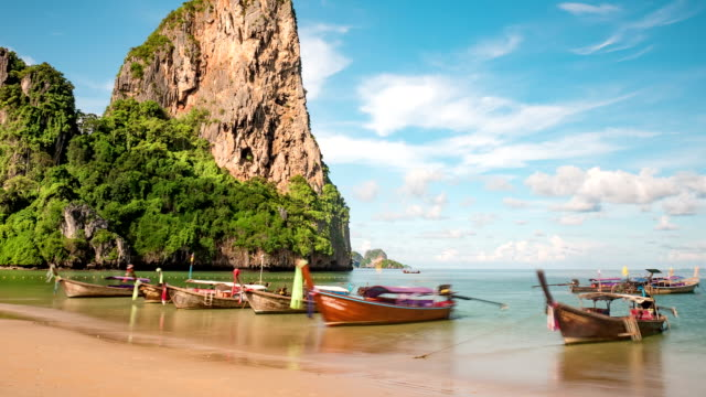 Beautiful tropical beach in Thailand Time Lapse video