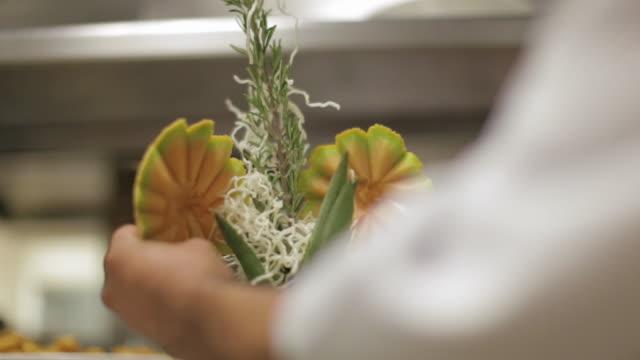 beautiful tropical fruit sculpture - scultura video stock e b–roll