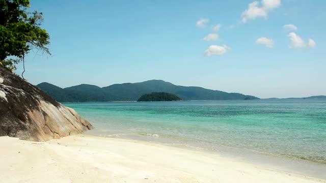 Beautiful Tropical Sand Beach With Sky video
