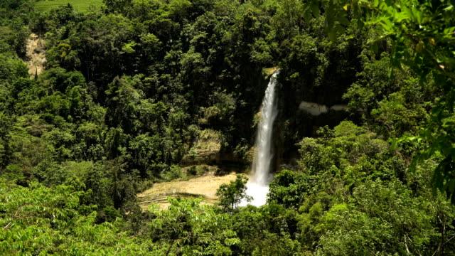 Beautiful tropical waterfall. Philippines Bohol island video