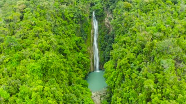 bellissima cascata tropicale filippine, cebu - filippino video stock e b–roll