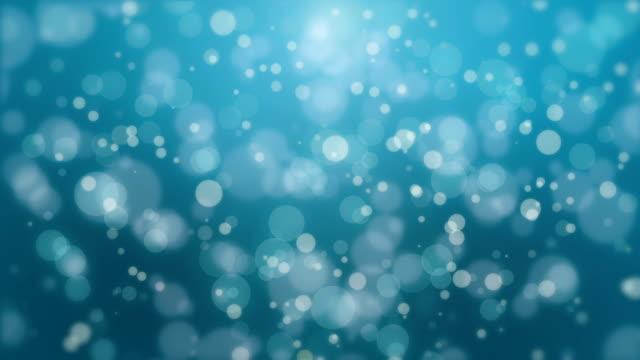 Beau bokeh bleu turquoise fond - Vidéo