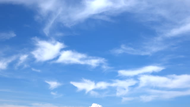 beautiful universally cloudscape background, time lapse - blue sky стоковые видео и кадры b-roll