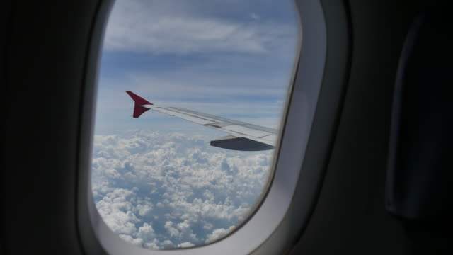 beautiful view from airplane window video