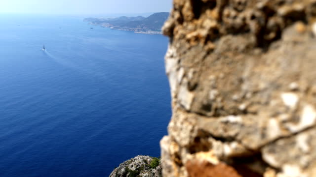 Beautiful view from Alanya Castle with background of Alanya City video