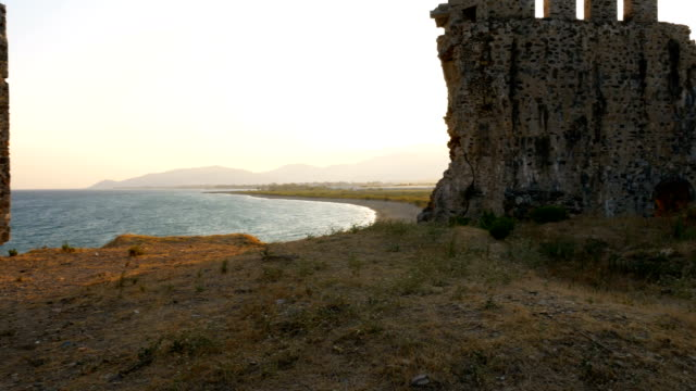 Beautiful view from Medieval Castle in the Mediterranean coast video