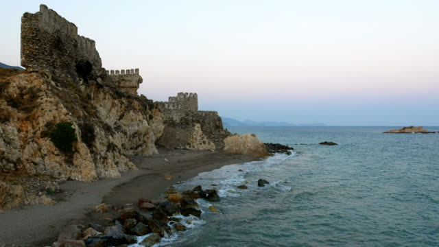 Beautiful view from Medieval Castle in the Mediterranean coastline video