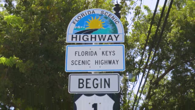 Beautiful view of area around marker US Highway 1 Mile 0. Key West. Florida. USA. Beautiful view of area around marker US Highway 1 Mile 0. Key West. Florida. USA. florida us state stock videos & royalty-free footage