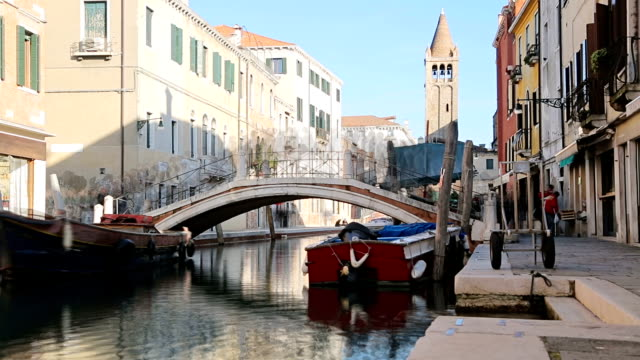 Beautiful view of crowded Streets of Venice video