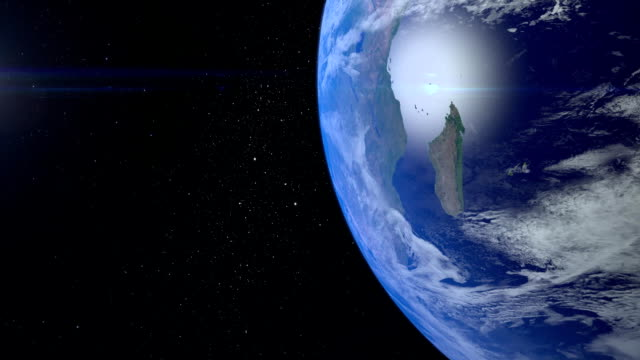 Beautiful View of Earth from space. FullHD video