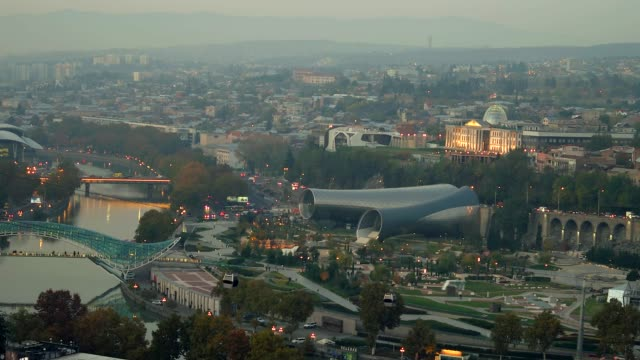 beautiful view of Tbilisi video