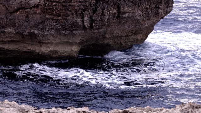 beautiful view of the sea in a cloudy day- Malta Island video