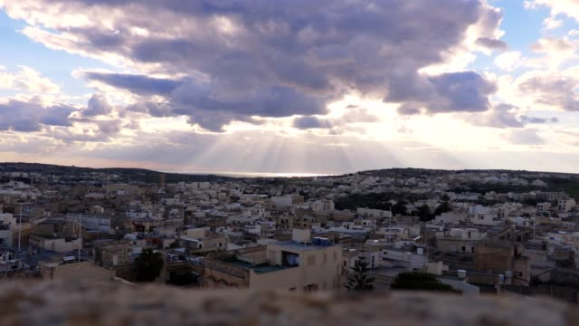 beautiful view of Valletta, Malta: the silent city and clouds video