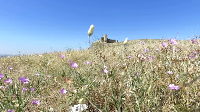 beautiful view of yeni sala fortress - męczennik filmów i materiałów b-roll