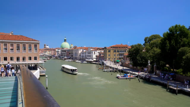 Beautiful view on Grand Canal in Venice from the bridge, sightseeing, vacation video