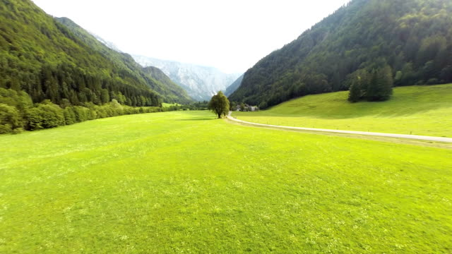 AERIAL Beautiful View Over The Logar Valley video