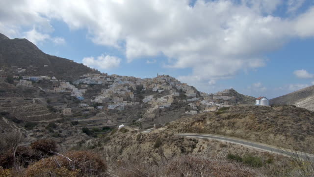 Beautiful view to the ancient capital of Karpathos Olympos