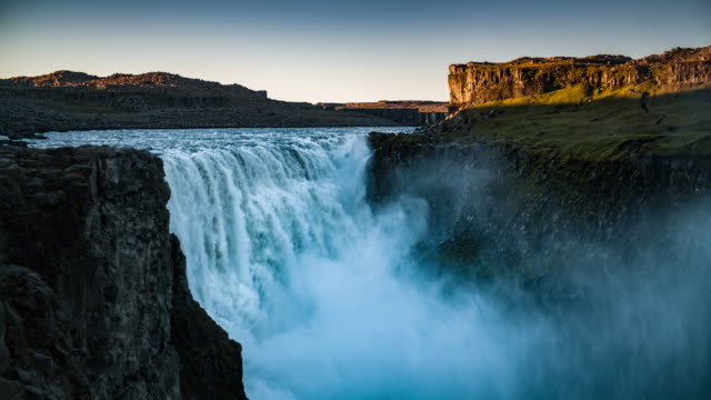 Beautiful waterfall Dettifoss in Iceland video