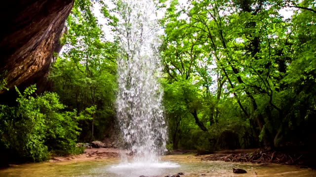 Beautiful Waterfall In Wild Crimea Forest video